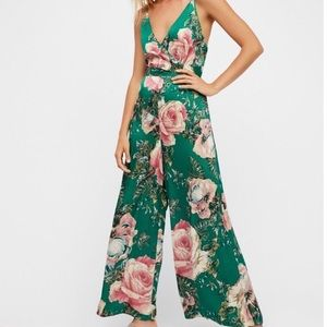 Free People Cabbage Rose Print Jumpsuit